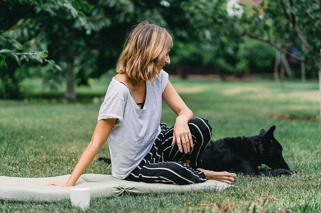 pani z psem